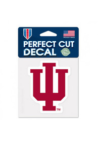 Indiana Hoosiers Perfect Cut Auto Decal - Red