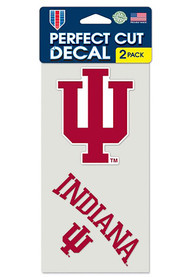 Indiana Hoosiers 2 Pack Perfect Cut Auto Decal - Red