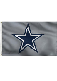 Dallas Cowboys Deluxe Grommet Grey Silk Screen Grommet Flag