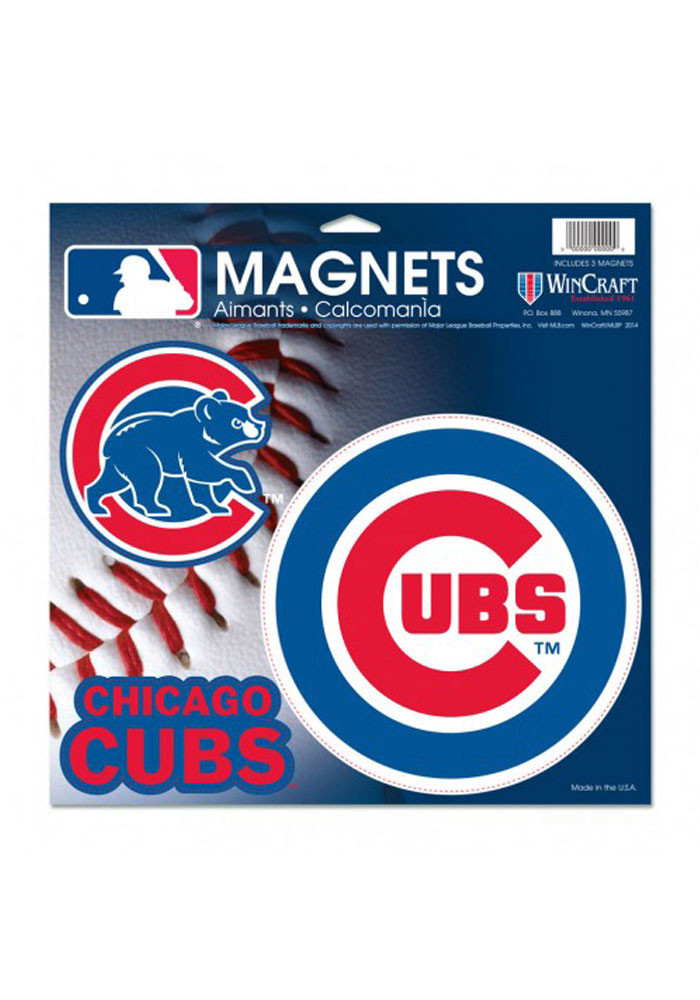 Chicago Cubs Multi Pack Car Accessory Car Magnet - Image 1