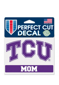 TCU Horned Frogs Mom Perfect Cut Auto Decal - Purple