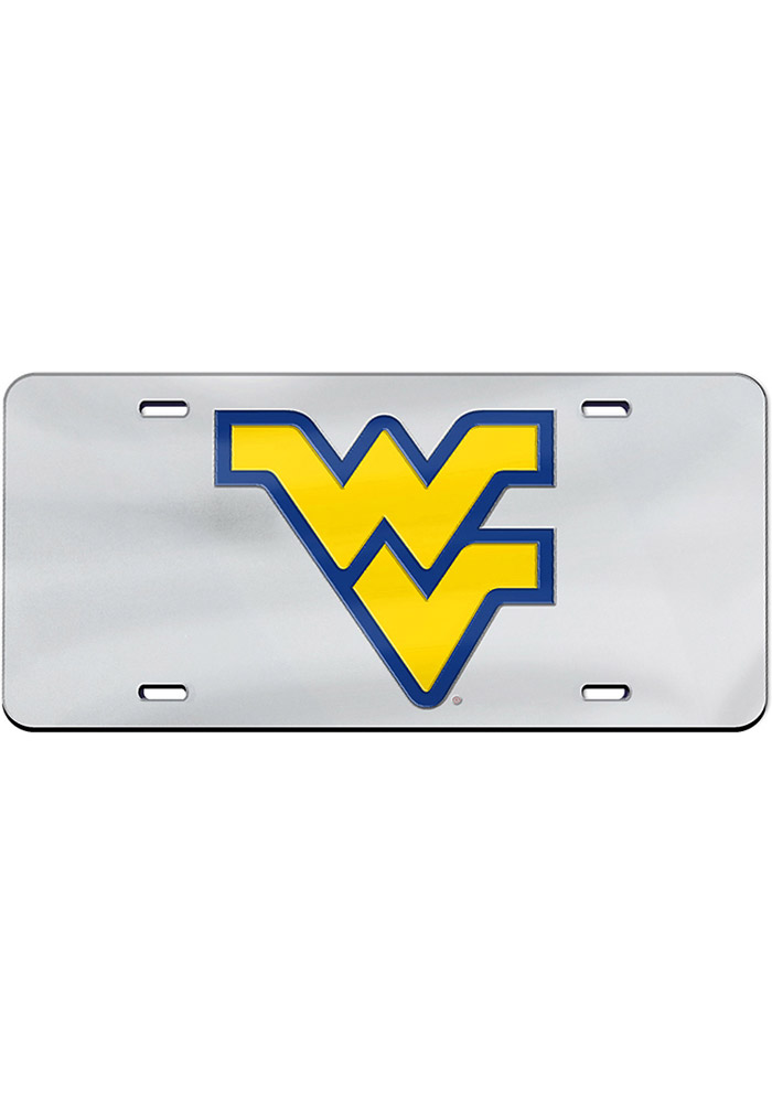 West Virginia Mountaineers Team Logo Inlaid Car Accessory License Plate - Image 1