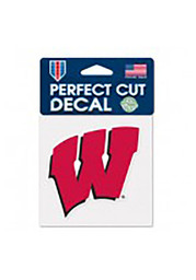Wisconsin Badgers Perfect Cut Auto Decal - Red