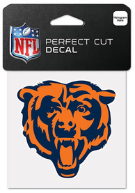 Chicago Bears Perfect Cut Auto Decal - Orange
