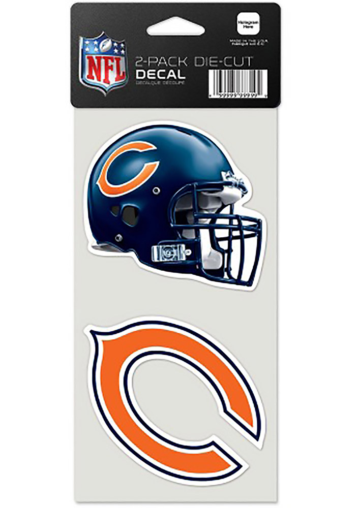 Chicago Bears 2 Pack Perfect Cut Auto Decal - Orange