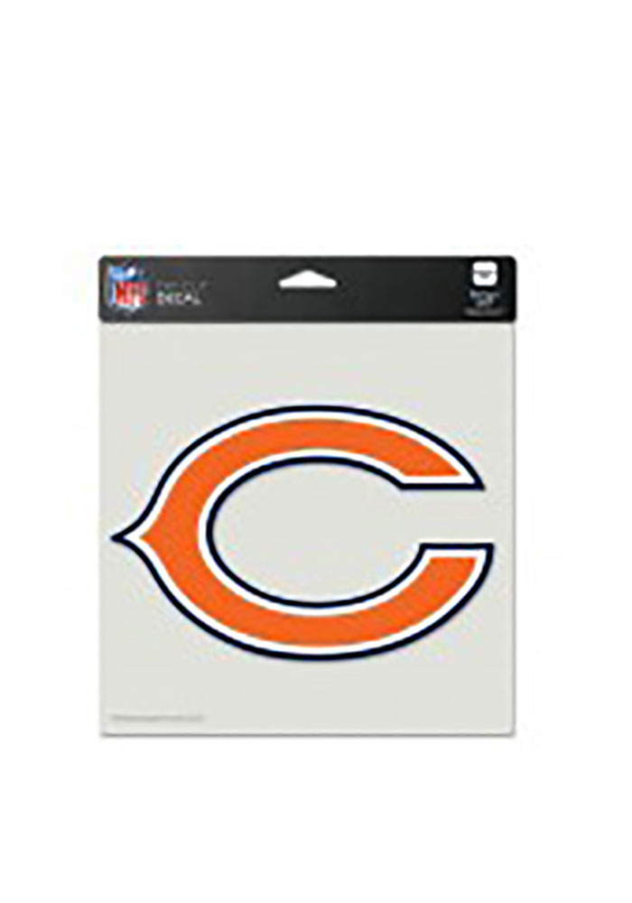 Chicago Bears Perfect Cut Auto Decal - Orange - Image 1
