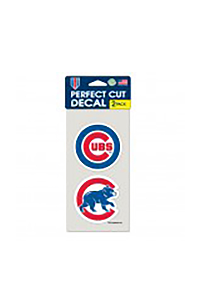Chicago Cubs 2 Pack Perfect Cut Decal - Image 1