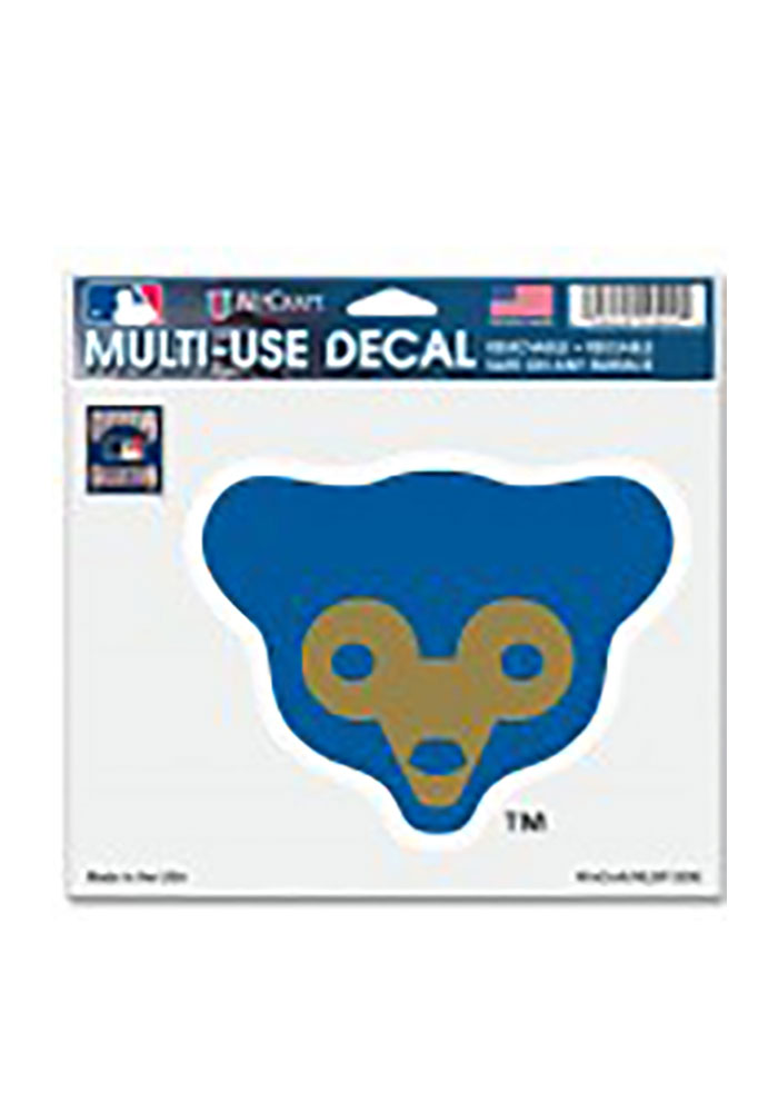 Chicago Cubs Cooperstown Multi Use Auto Decal - Blue
