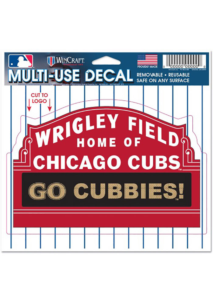 Chicago Cubs Wrigley Field Multi Use Decal - Image 1