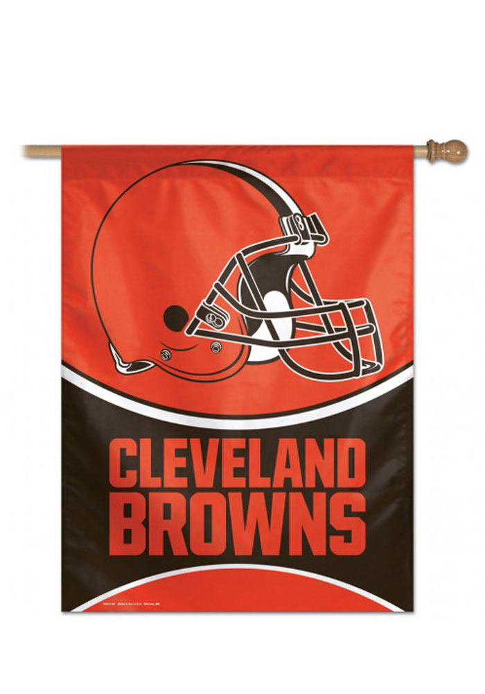 Cleveland Browns Team Logo Banner, Orange, POLYESTER
