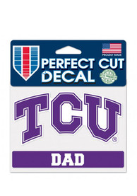 TCU Horned Frogs Dad Perfect Cut Auto Decal - Purple