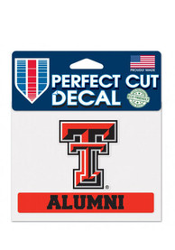 Texas Tech Red Raiders Alumni Perfect Cut Auto Decal - Red