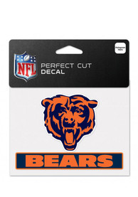 Chicago Bears Team Name Perfect Cut Auto Decal - Orange