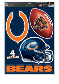 Chicago Bears Multi Use Auto Decal - Orange