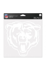 Chicago Bears Perfect Cut Auto Decal - White