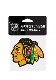 Chicago Blackhawks Perfect Cut Auto Decal - Black