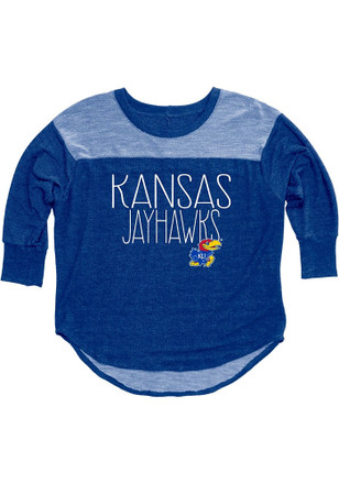 KU Jayhawks Womens Yoke Blue T-Shirt