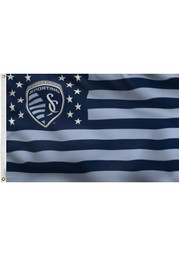 Sporting Kansas City 3x5 Stars and Stripes Deluxe Silk Screen Flag