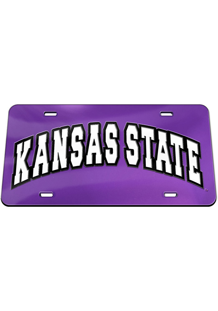 k state wildcats arched school name car accessory license