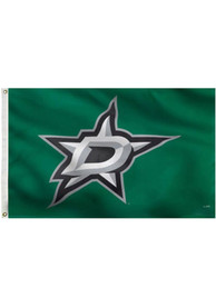 Dallas Stars 3x5 Green Grommet Green Silk Screen Grommet Flag