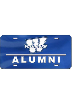 washburn ichabods alumni inlaid car accessory license plate