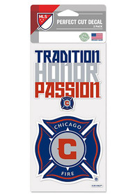Chicago Fire 2 Pack Perfect Cut Auto Decal - Blue