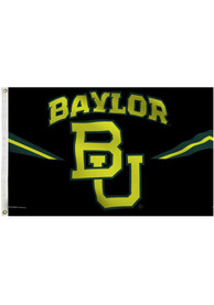 Baylor Bears Neon Jersey Deluxe Grommet Black Silk Screen Grommet Flag