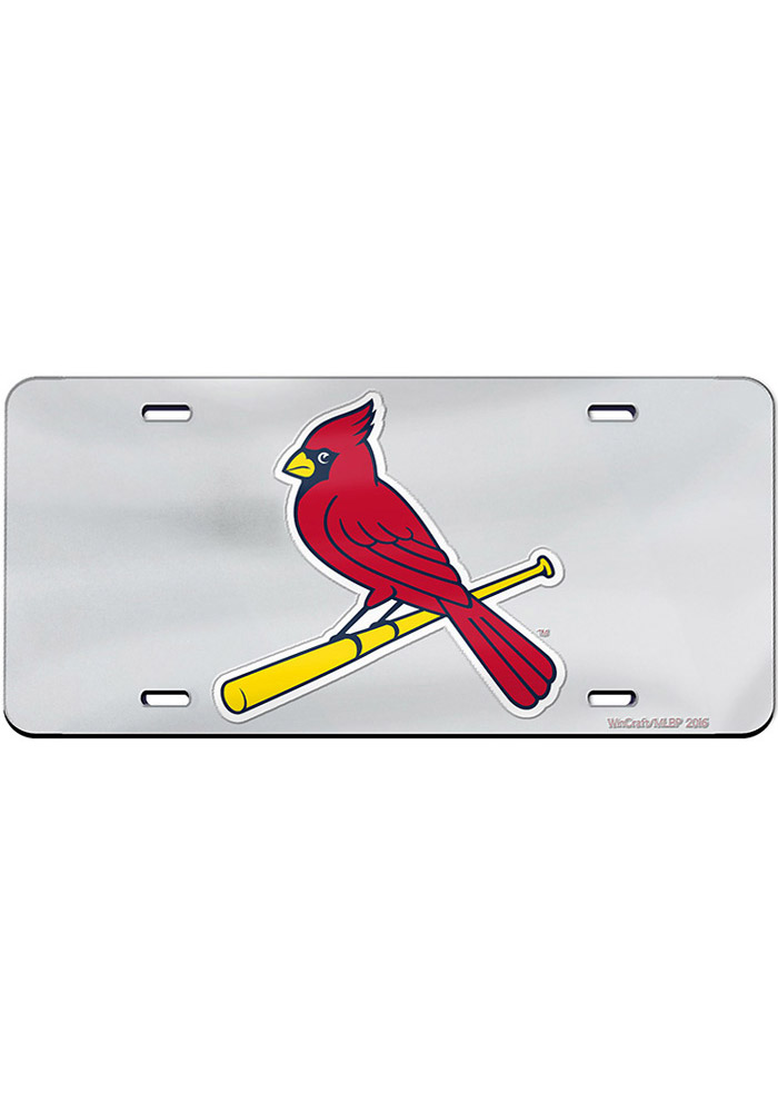 St Louis Cardinals Team Logo Inlaid Car Accessory License Plate - Image 1