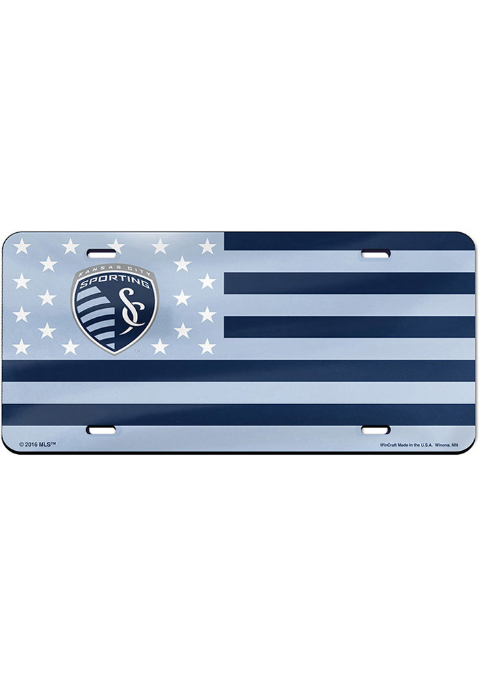 Sporting Kansas City Stars and Stripes Car Accessory License Plate - Image 1