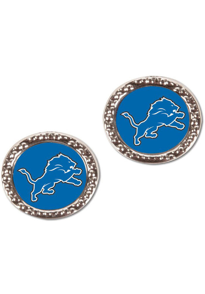 Detroit Lions Hammered Post Womens Earrings - Image 1