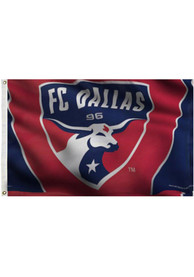 FC Dallas Deluxe Grommet Red Silk Screen Grommet Flag