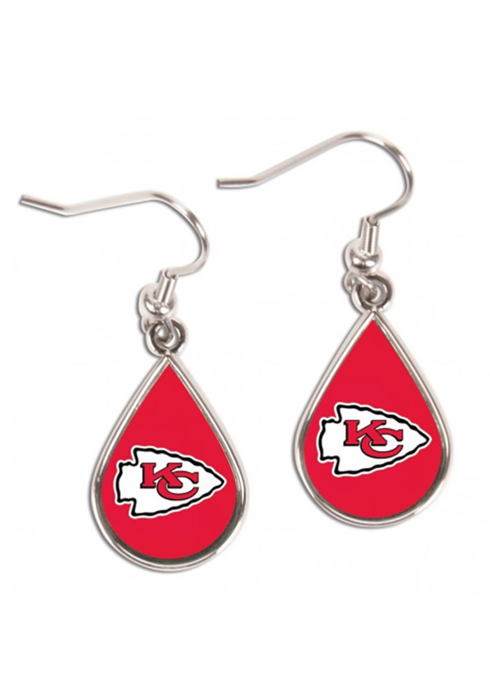 Kansas City Chiefs Teardrop Womens Earrings - Image 1