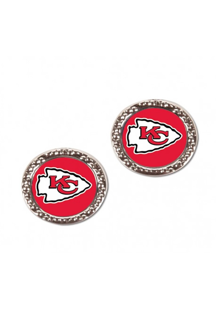 Kansas City Chiefs Hammered Post Womens Earrings - Image 1