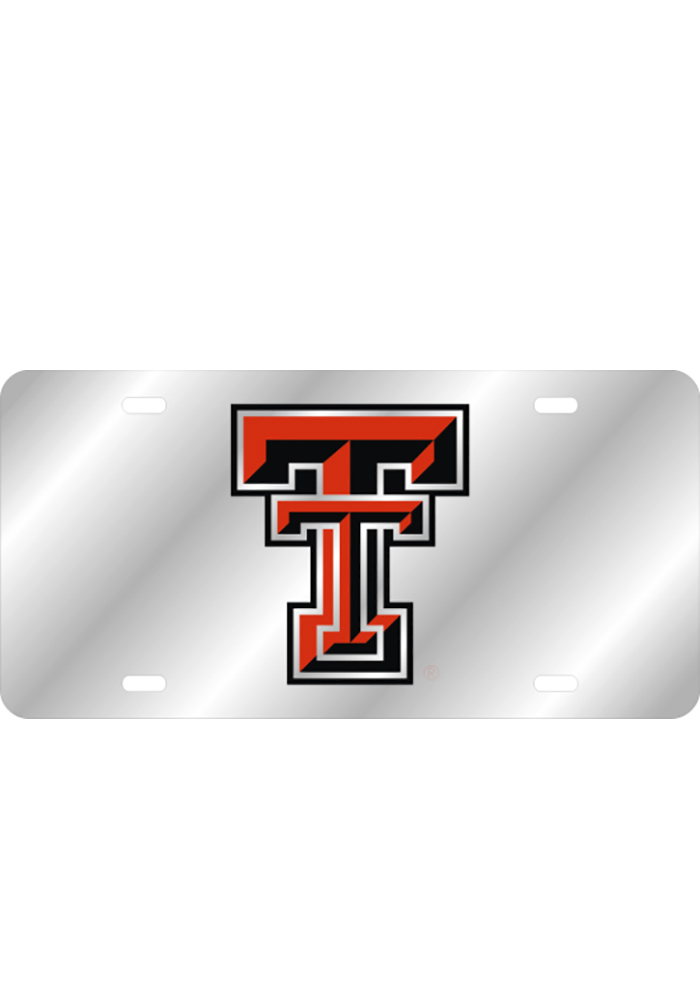 Texas Tech Red Raiders Team Logo Inlaid Car Accessory License Plate - Image 1