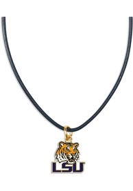 LSU Tigers Womens Leather Necklace - Purple