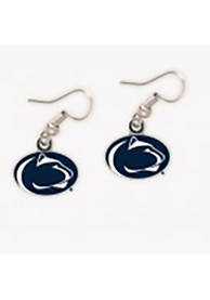 Penn State Nittany Lions Womens Team Logo Earrings - Navy Blue