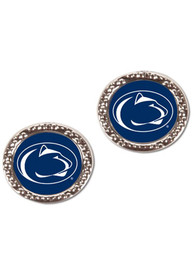 Penn State Nittany Lions Womens Team Logo Earrings - Silver