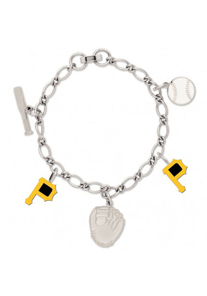Pittsburgh Pirates 5 Charm Womens Bracelet - Image 1