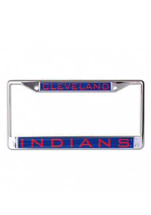 Cleveland Indians Team Name Inlaid License Frame