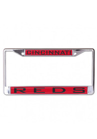 Cincinnati Reds Team Name Inlaid License Frame