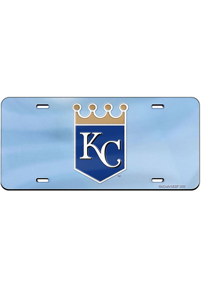 Kansas City Royals Crown Logo Inlaid Car Accessory License Plate - Image 1