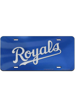 Kansas City Royals Wordmark Inlaid Car Accessory License Plate