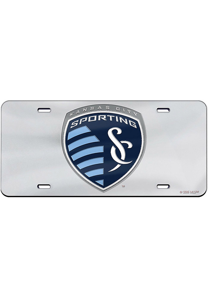 Sporting Kansas City Team Logo Silver Inlaid Car Accessory License Plate