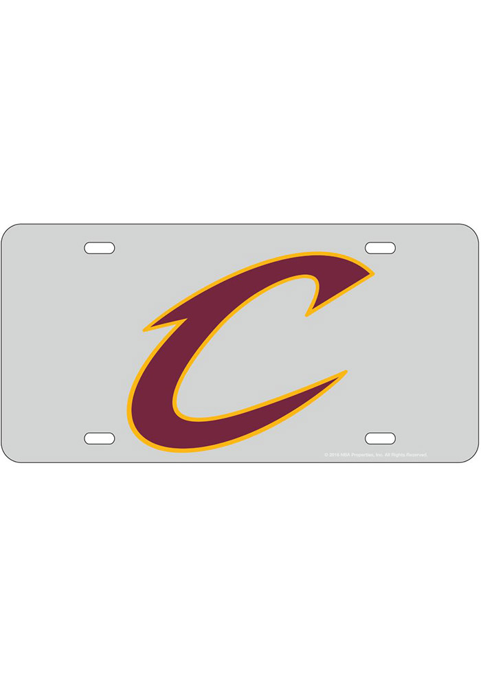 Cleveland Cavaliers Team Logo Inlaid Car Accessory License Plate - Image 1