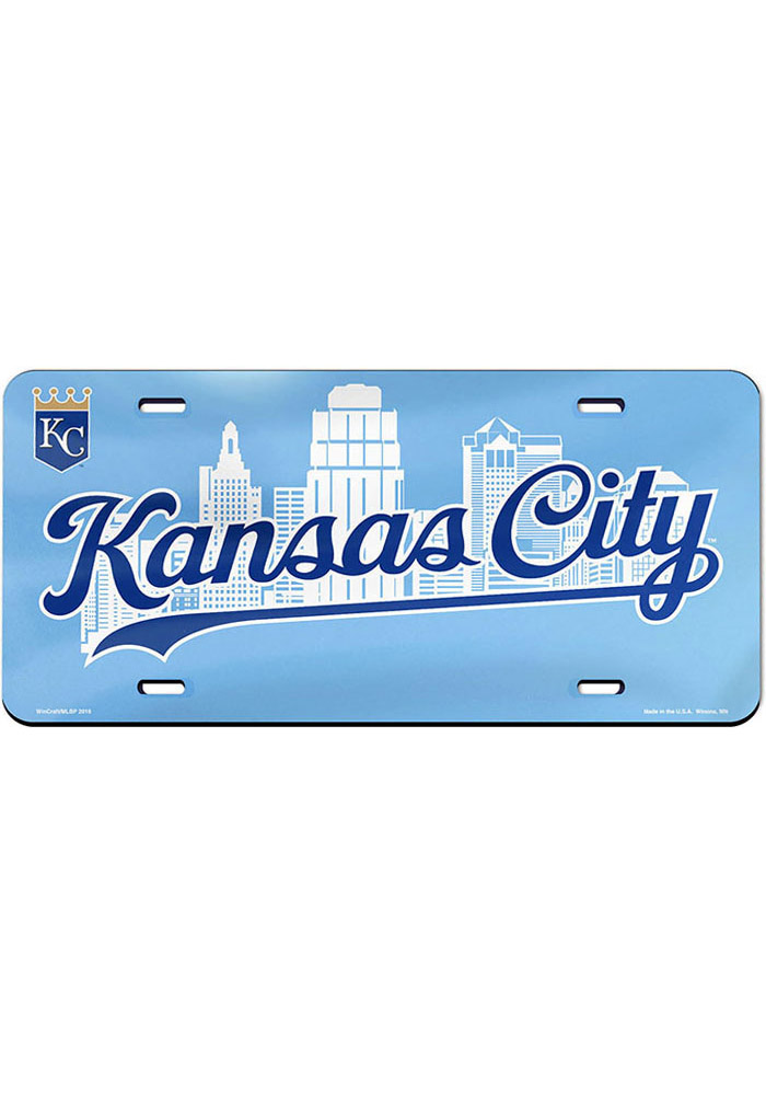 Kansas City Royals Skyline Car Accessory License Plate - Image 1
