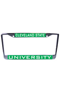Cleveland State Vikings Team Name Inlaid License Frame