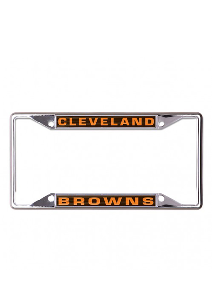 Cleveland Browns Team Name Inlaid License Frame - Image 1