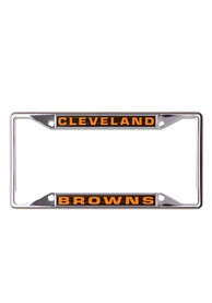 Cleveland Browns Team Name Inlaid License Frame