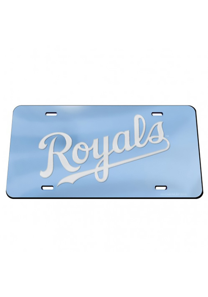 Kansas City Royals Wordmark Powder Blue Inlaid Car Accessory License Plate - Image 1