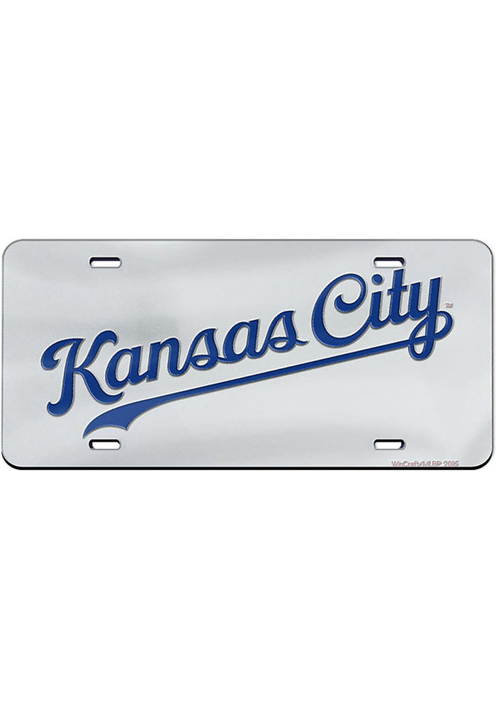 Kansas City Royals Jersey Logo Car Accessory License Plate - Image 1